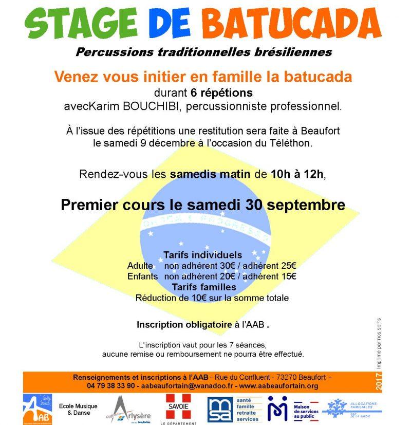Stage de Batucada en Famille